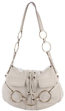 Saint Laurent Lace-Up Leather Shoulder Bag - NEUTRALS - STYLE
