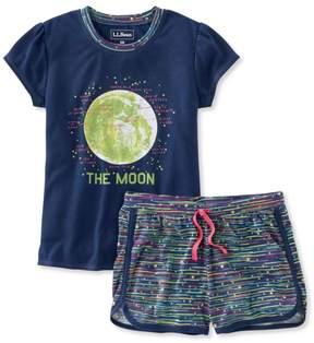 L.L. Bean L.L.Bean Girls' Jersey-Knit PJs, Shorts Print