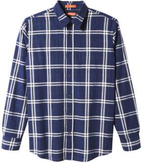 Joe Fresh Men's Standard Fit Plaid Shirt, Denim Blue (Size XXL)