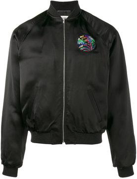 Saint Laurent shark embroidered bomber jacket