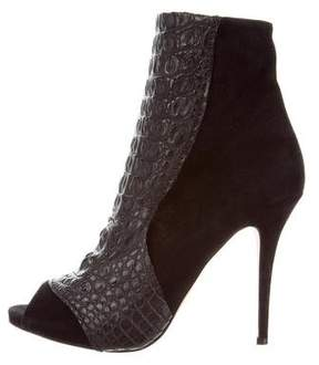 Alexa Wagner Peep-Toe Ankle Boots