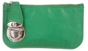 Marc Jacobs Leather Coin Pouch - GREEN - STYLE