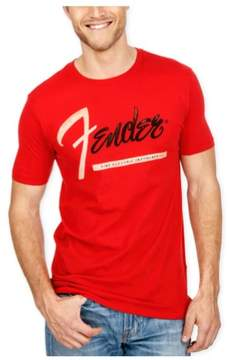 Lucky Brand Mens Fender Graphic T-Shirt Red L