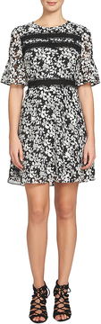 CeCe Women's Alayna Floral Bell Sleeve Dress