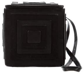 Christian Louboutin Satin & Leather Box Clutch