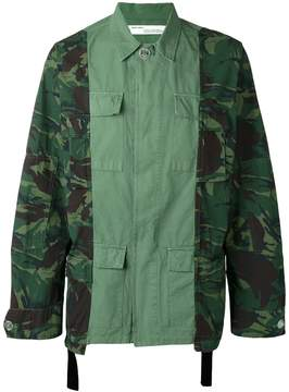 Off-White camouflage print cargo jacket