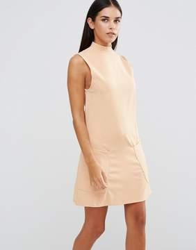 AX Paris High Neck Shift Dress With Pockets