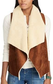 Chaps Women's Faux Shearling Open-Front Vest