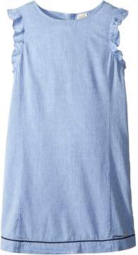 Armani Junior Linen Shift Dress (Toddler/Little Kids/Big Kids)