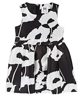 Milly Kids' Poppy-Print Silky Twill Fit & Flare Dress