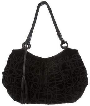 Giorgio Armani Velvet Embroidered Bag