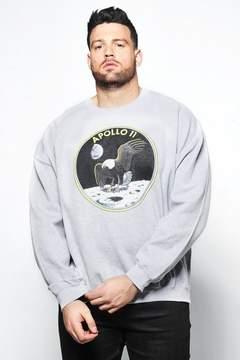 boohoo Big And Tall NASA Apollo Sweatshirt