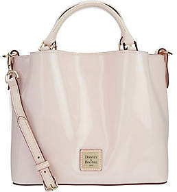 Dooney & Bourke As Is Patent Leather Small Brenna Satchel Handbag - ONE COLOR - STYLE