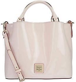 As Is Dooney & Bourke Patent Leather Small Brenna Satchel Handbag