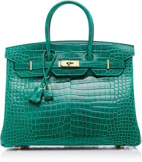 Hermes Vintage by Heritage Auctions 35cm Vert Emerald Crocodile Birkin