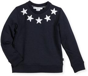 Givenchy Boys' Crewneck Sweatshirt w/ Star Patches, Size 12-14