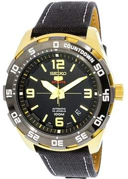 Seiko Men's SRPB86K Gold Leather Automatic Sport Watch