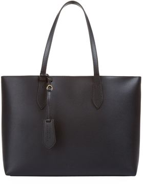 Burberry Medium Coated Leather Tote Bag - BLACK - STYLE