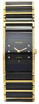 Rado Integral Quartz Black Dial Two-tones Ladies Watch