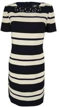 Vince Camuto Women's Short Sleeve Striped Dress