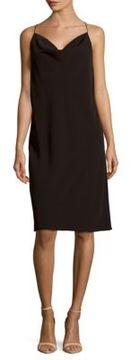 C/Meo Solid V-Neck Dress
