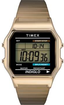 Timex Mens Classic Goldtone Digital Watch