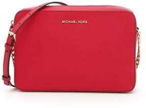 MICHAEL Michael Kors Jet Set Travel Crossbody Bag - CRANBERRY|ROSA - STYLE