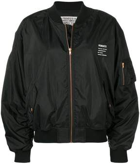 Fiorucci logo appliqué bomber jacket