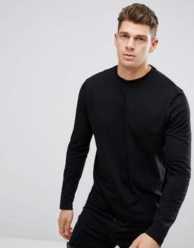 New Look Long Sleeve Top In Black