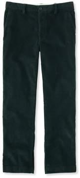 L.L. Bean L.L.Bean Stretch Country Corduroy Pants, Classic Fit Plain-Front