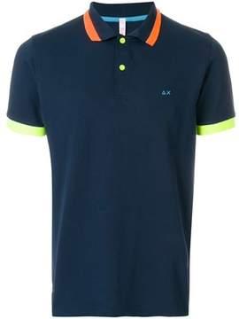 Sun 68 Men's A1811607 Blue Cotton Polo Shirt.