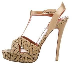 Missoni Metallic T-Strap Sandals