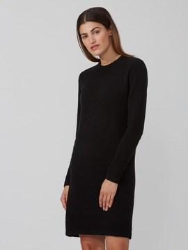 Frank and Oak Boucle Sweater-Dress in True Black