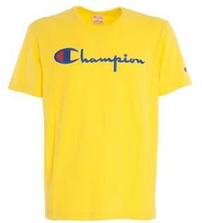 Champion Men's Yellow Cotton T-shirt.