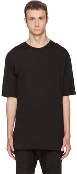 Helmut Lang Black Slash Hem T-Shirt