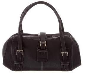 Loewe Buckle Grained Leather Shoulder Bag