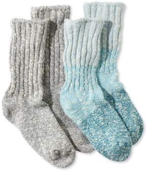 L.L. Bean L.L.Bean Kids' Cotton Ragg Socks, Two-Pack