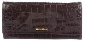 Miu Miu Embossed Patent Wallet