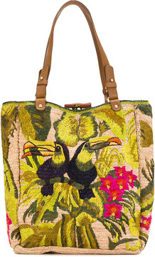 Jamin Puech Embroidered detail tote