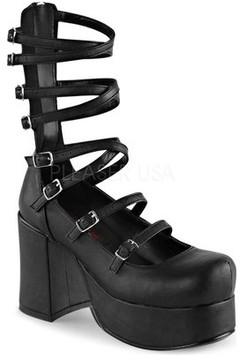 Demonia Women's Abbey 08 Cage Platform Shoe