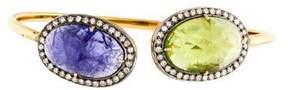 Amrapali Diamond, Peridot & Tanzanite Cuff Bracelet