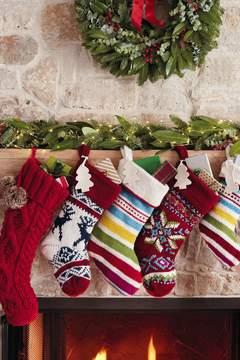 Lands' End Lands'end Knit Christmas Stocking