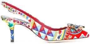 Dolce & Gabbana Bellucci embellished sling-back pumps
