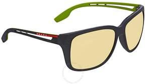 Prada Linea Rossa Orange Rectangular Sunglasses PS 03TS 1BO132