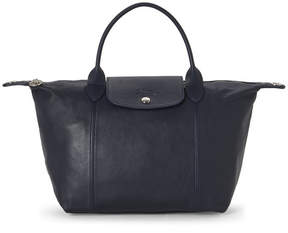Longchamp Navy Le Pliage Cuir Small Satchel - NAVY - STYLE