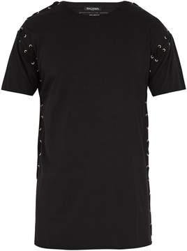 Balmain Eyelet-embellished cotton-jersey T-shirt