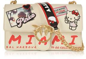 Pinko Love Hello Kitty Souvernir White Eco leather Shoulder Bag