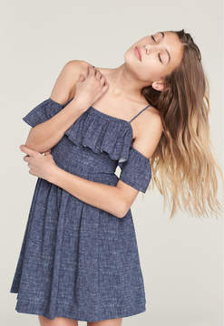 Milly MINIS DENIM PRINT BELLA DRESS