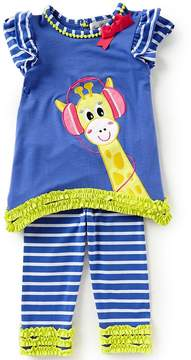 Rare Editions Little Girls 2T-6X Giraffe Capri Set