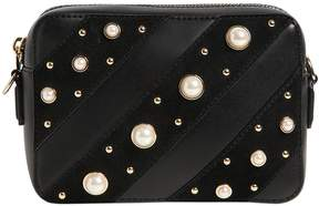 Karl Lagerfeld K/Ikonik Embellished Leather Camera Bag